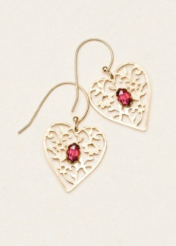 """Blooming Heart"" Earrings"