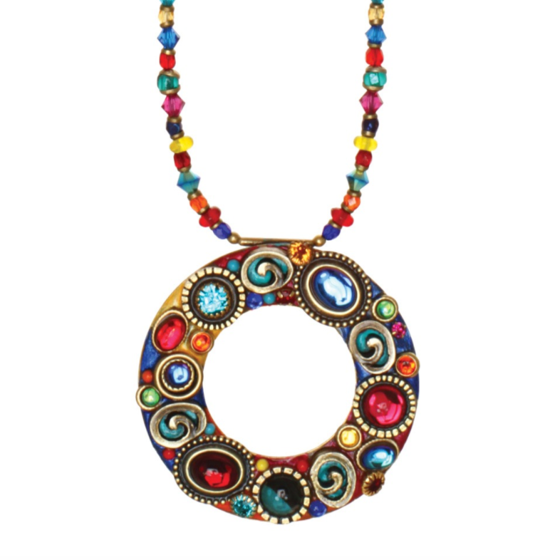 Confetti Open Circle Necklace