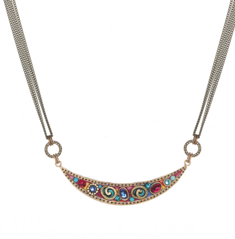 Confetti Crescent Necklace