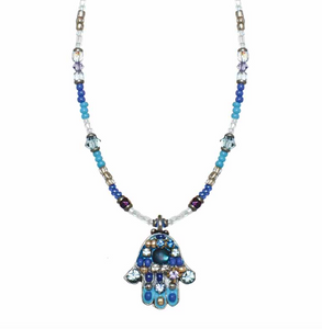 Blue Hamsa Necklace