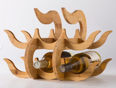 """Wave"" Wine Rack"