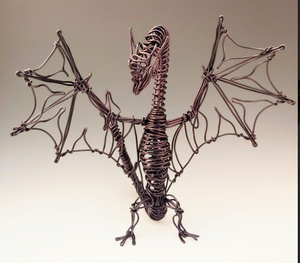 Black Dragon Metal Sculpture