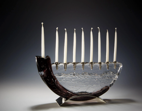 Black Shofar Menorah