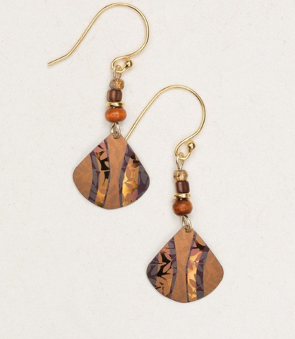 Amber Wave Painterly Earrings
