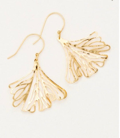 Gold Maidenhair Earrings