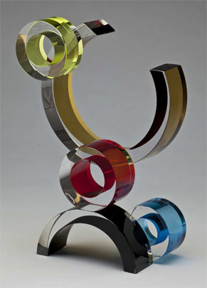 """Moonlight"" Glass Sculpture"