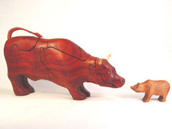 Stock Market Bull with Bear Puzzle