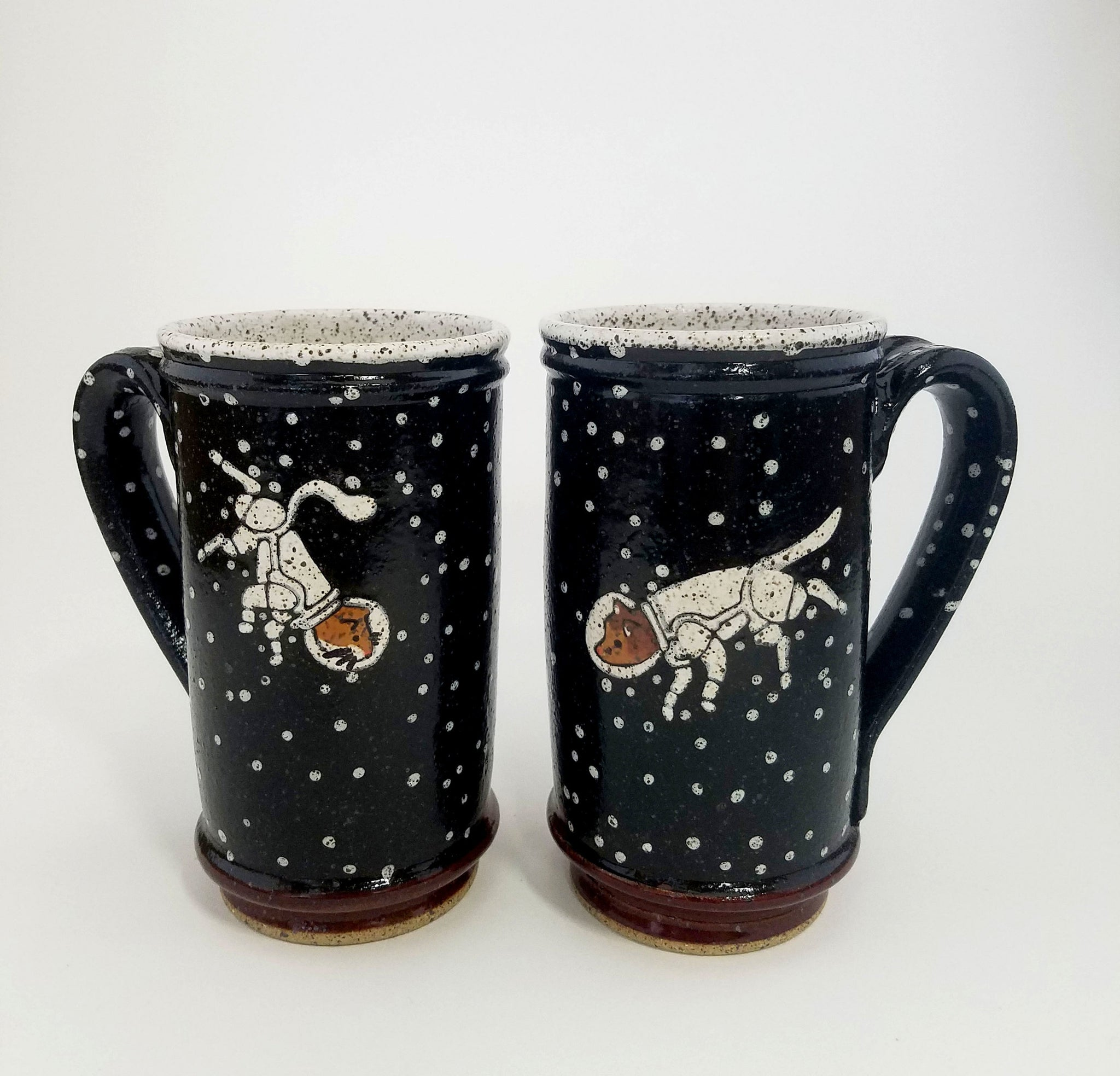Tall Red Cat Astronaut Mug
