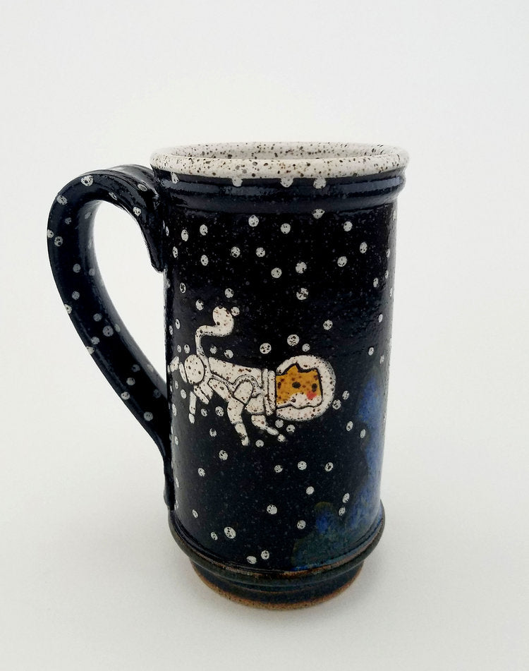 Blue Cat Astronaut Mug