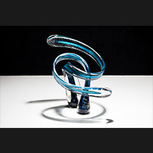 Threaded Embrace Glass Sculpture