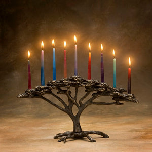 Bronze Tree Of Life Menorah