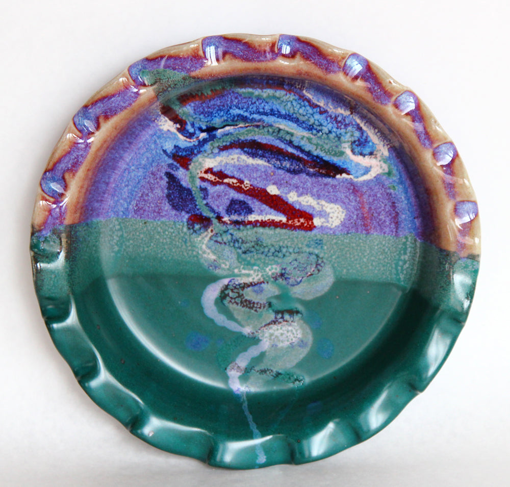 Turquoise Pie Plate