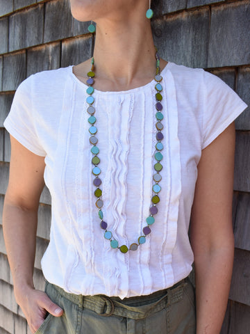 Long Watercolor Necklace