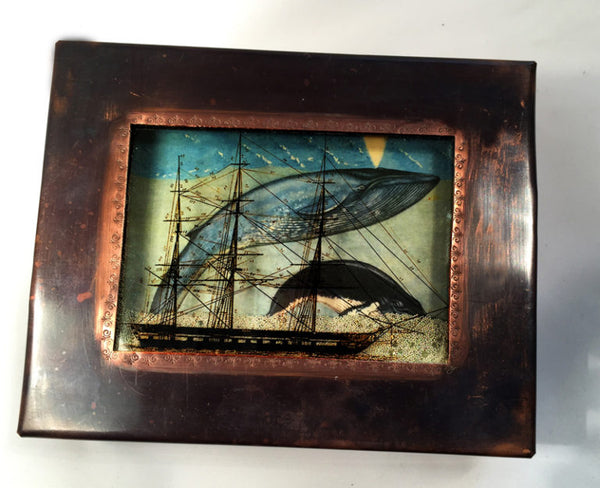 Sailing Ship/Whale Reliquary Box