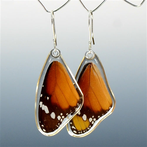 African Monarch Butterfly Top Wing Earrings
