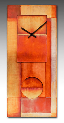 "All Copper 24"" Clock"