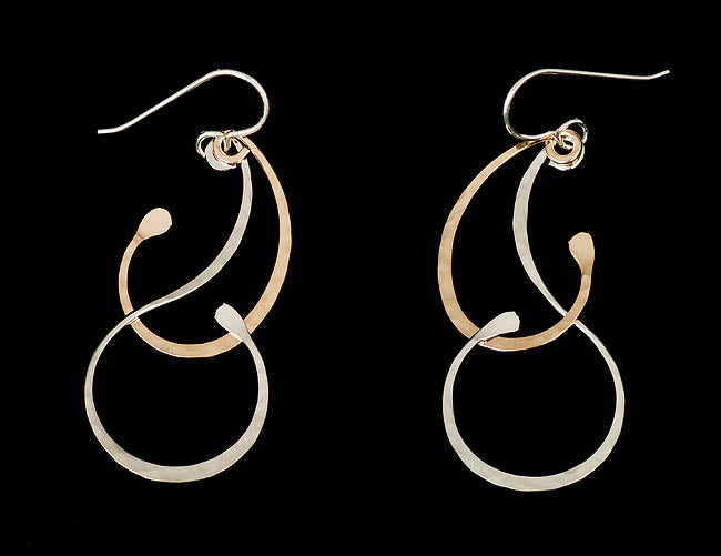 Curl Mixed Metal Earrings