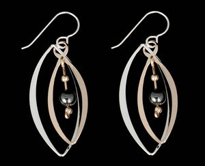 Hematite Helix Earrings