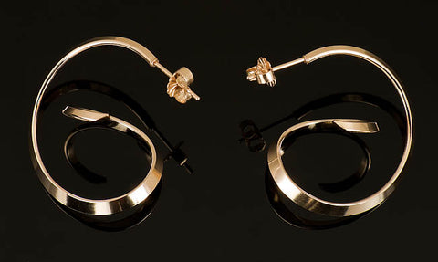 Medium Asymmetrical Hoop Earrings