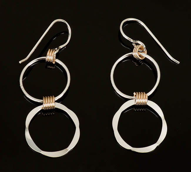 Mixed Metal Wrap Earrings