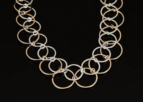 Overlapping Circles Necklace