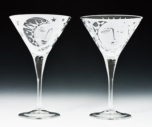 Bella Luna Martini Glasses