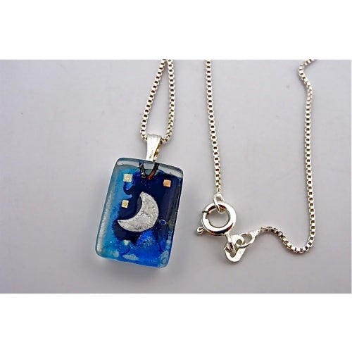 Blue Moon Charm Necklace