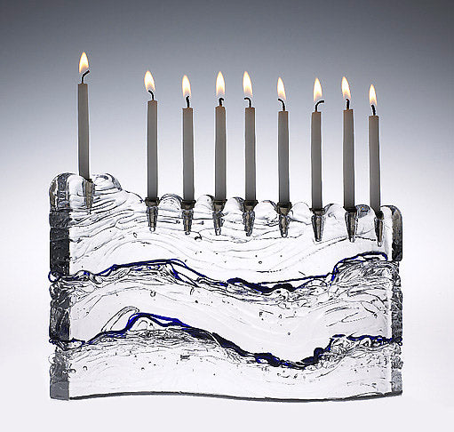 "Blue ""S"" Menorah"
