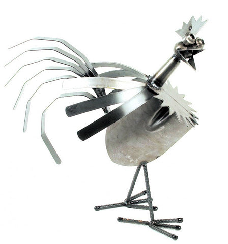 Box Rooster Sculpture