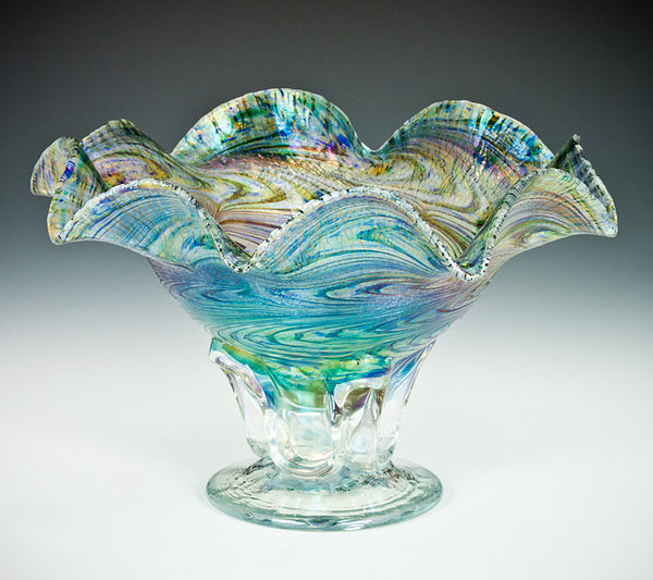 Peacock Pedestal Bowl