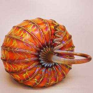 Carmel Gold Glass Pumpkin