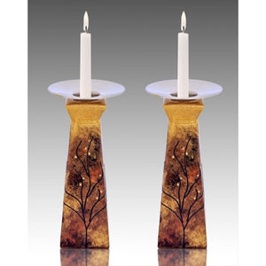 Celebration Pyramid Glass Candle Holders