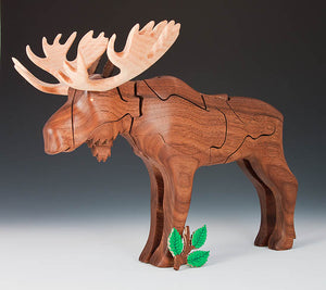 Walnut Moose Puzzle