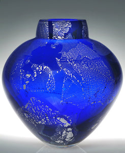 Cobalt with Silver Leaf Emperor Bowl