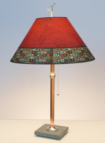 Red Mosaic Marble Table Lamp
