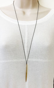 Large Gold Spike Necklace