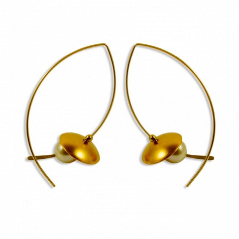 Earring Sterling, Gold and Pearl