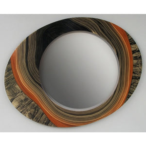 Painted Asymmetrical Mirror