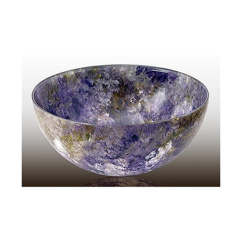 Glass Bowl Lavender Forest Tones