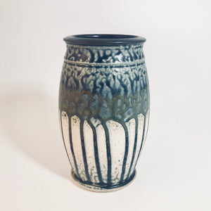 Short Blue Ash Glaze Vase