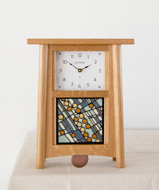 """Volvick Blue"" Clock"