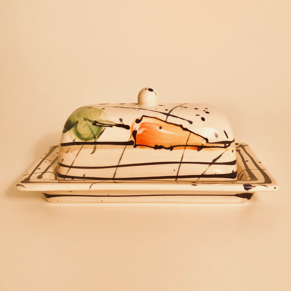 Butter Dish with Carrots