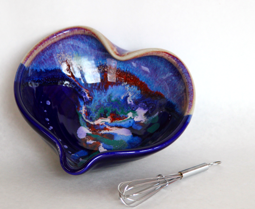 Heart Bowl Cobalt Mix