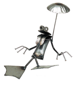 Lazy Frog Sculpture