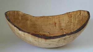 "15"" Oval Spalted Maple Bowl"