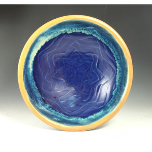 Medium Blue Flower Bowl