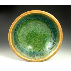 Medium Green Flower Bowl