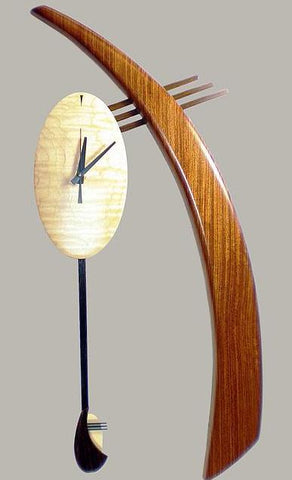 Bubinga Solitude Wall Clock