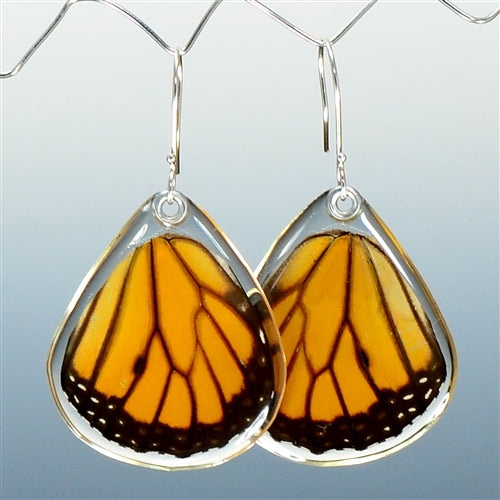 Monarch Butterfly Bottom Wing Earrings