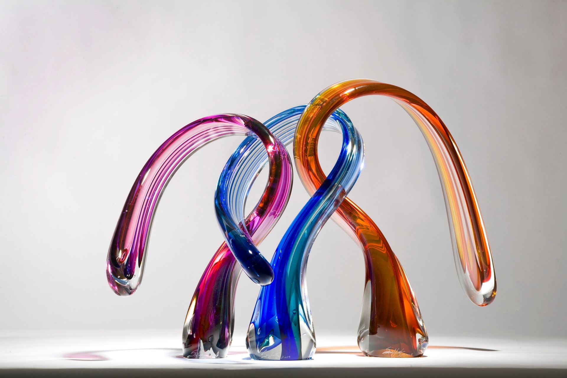 Triple Embrace Glass Sculpture